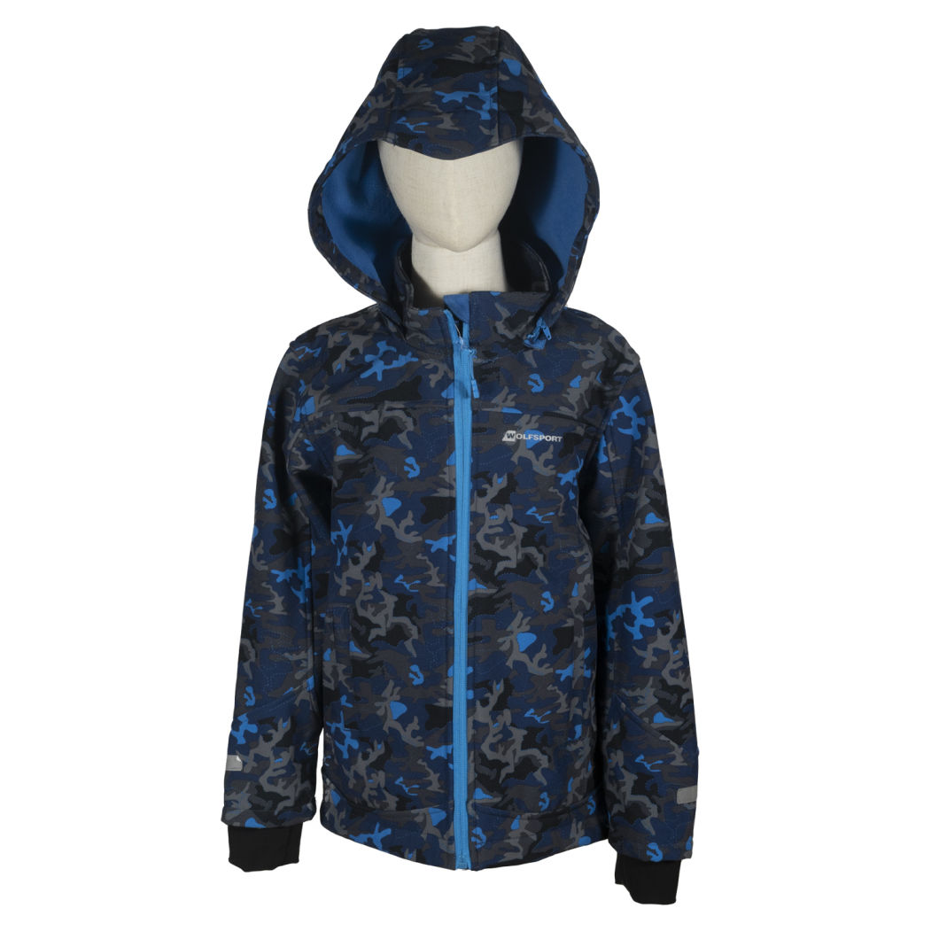 Colorful Flower Printed Kids Outdoor Waterproof Windbreaker Breathable Softshell Jacke for Girl