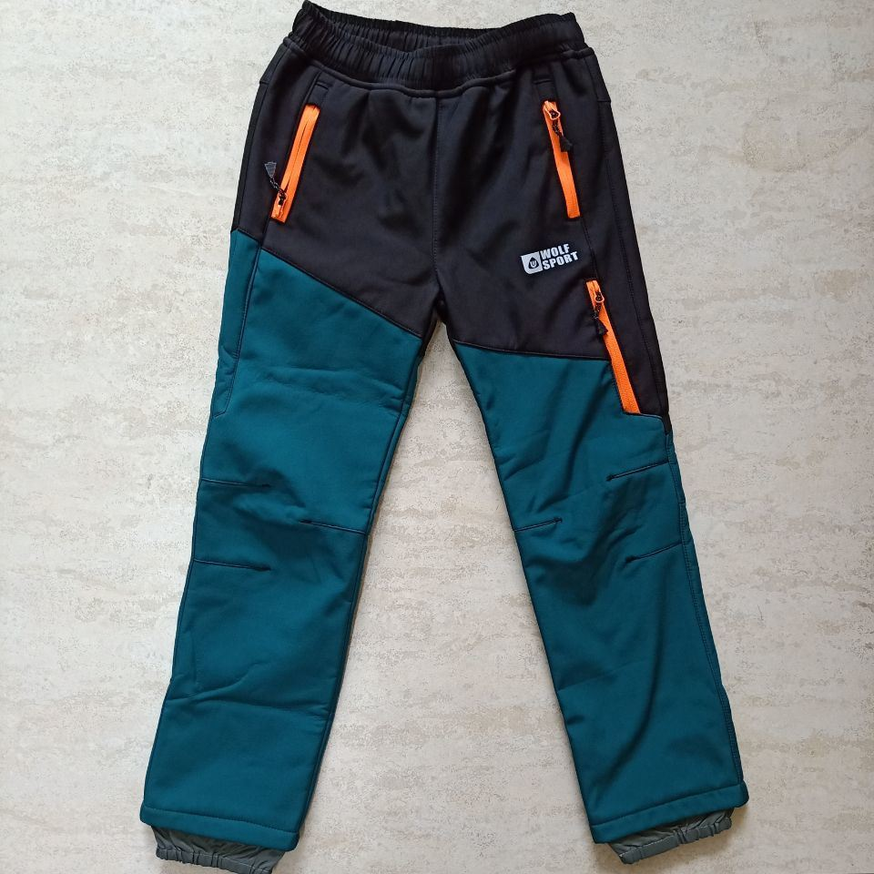 Kids Autumn Softshell Trousers Outdoor Hiking Camping Climbing Children Softshell Waterproof Pants
