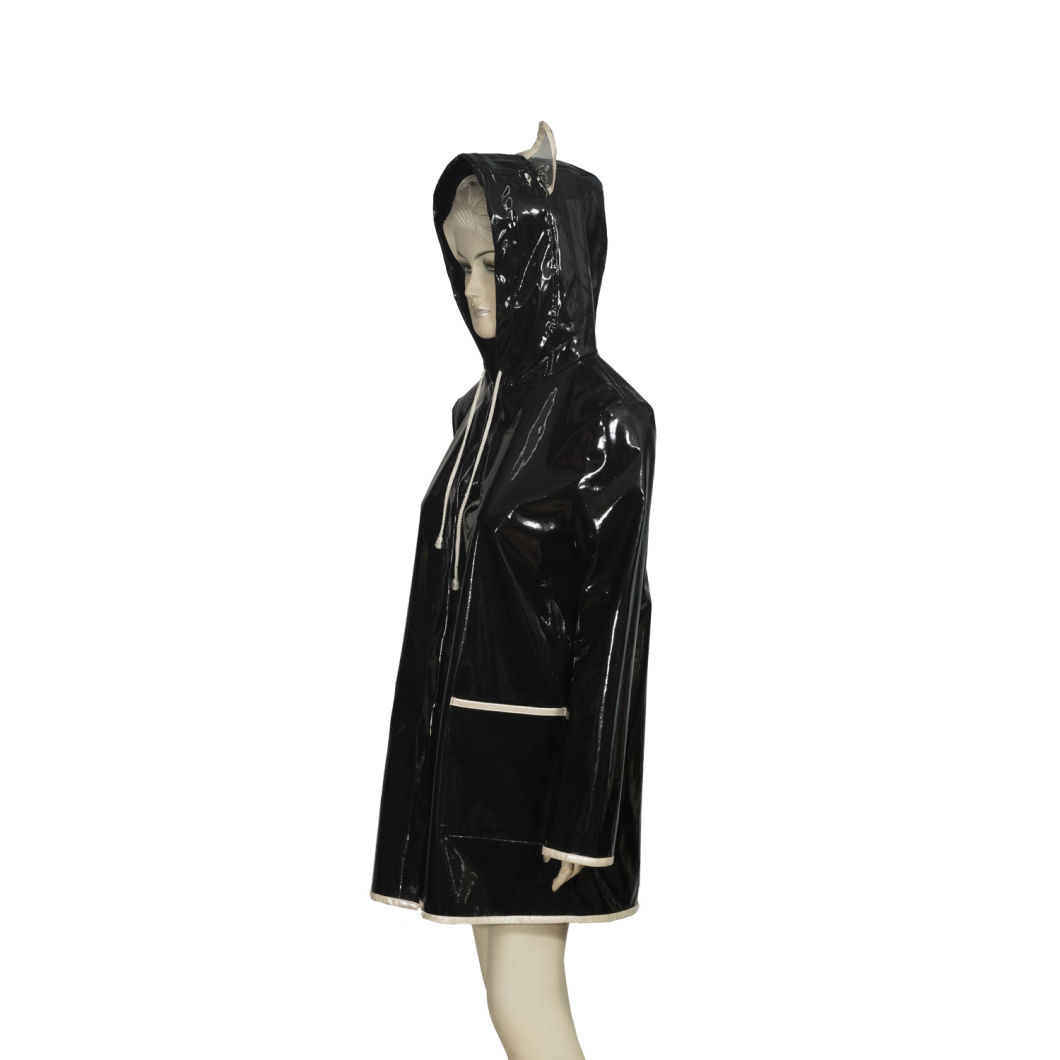 Hipin Stock Fast Dispatchamazon Top Seller 2019 Wholesale Clear Transparent Plastic PVC Handbag Women Raincoat Jacket Poncho Waterproof Rain Coat