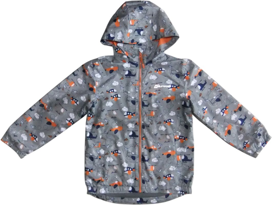 Hooded Fleece Lined Windproof Sweater Windbreaker Softshell Jacket for Kids