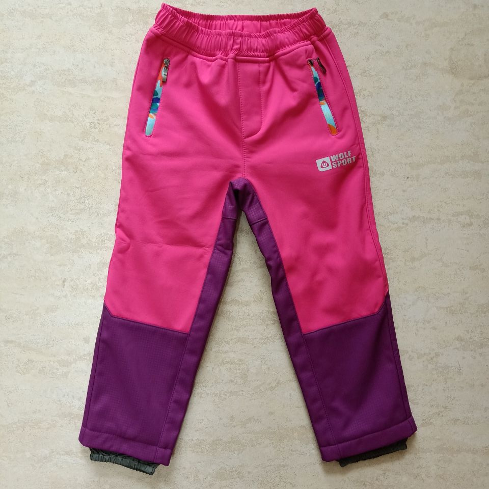 OEM Wholesale Outdoor Hiking Trousers Kids Windproof Softshell Pants