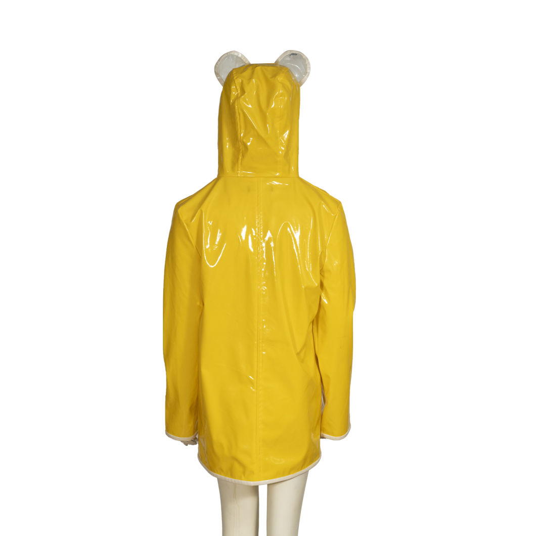 New Style Raincoat Clear EVA Ladies Rain Coats Transparent Long PVC Raincoat for Women