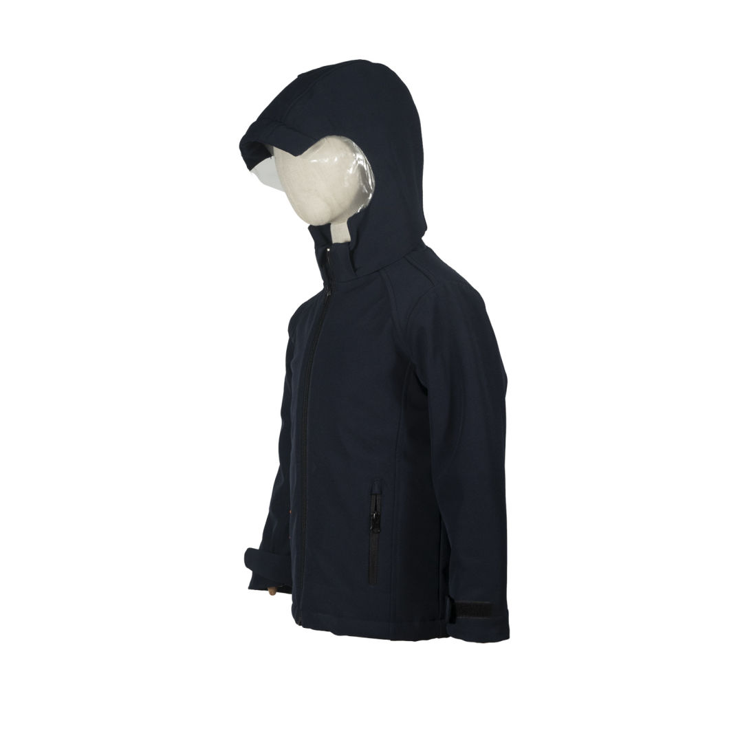 Hooded Long Sleeve Coat Zip up Outerwear Kids Polar Fleece Jacket