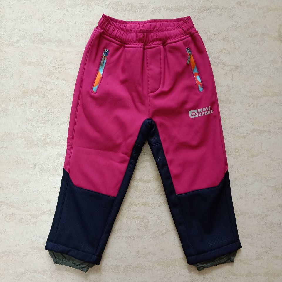 Kids Outdoor Hiking Climbing Camping Softshell Trousers
