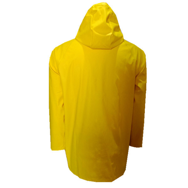 Fashion New Design PU Yellow Rain Coating Adult Rain Jacket Custom Bike Rain Coat